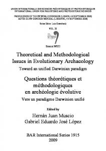 Theoretical and Methodological Issues in Evolutionary ... - oxis.org
