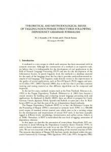 theoretical and methodological issues of tagging noun ... - CiteSeerX