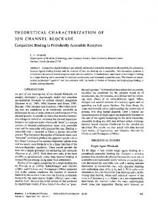 THEORETICAL CHARACTERIZATION OF ION ... - Europe PMC