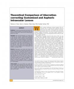 Theoretical Comparison of Aberration-correcting Customized and ...