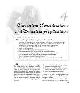 Theoretical Considerations and Practical Applications