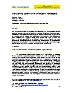 Theoretical Contribution - SUNY New Paltz Faculty Sites
