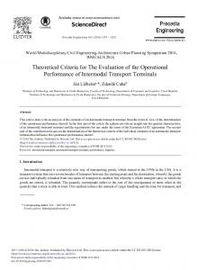Theoretical Criteria for The Evaluation of the