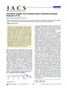 Theoretical Insights into Pyridinium-Based ... - ACS Publications