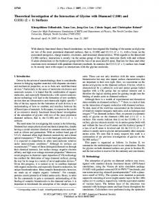 Theoretical Investigation of the Interaction of Glycine with Diamond C