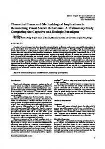 Theoretical Issues and Methodological Implications in Researching ...