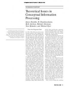 Theoretical Issues in Conceptual Information ... - Semantic Scholar