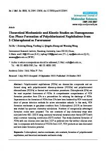 Theoretical Mechanistic and Kinetic Studies on Homogeneous Gas ...