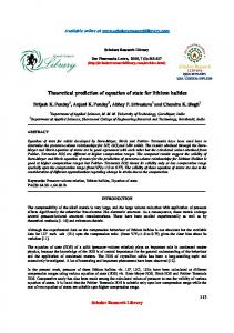 Theoretical prediction of equation of state for lithium halides - Scholars