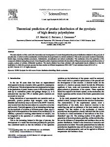 Theoretical prediction of product distribution of the