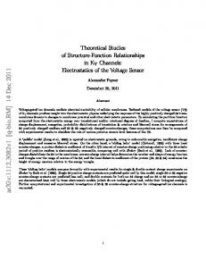 Theoretical Studies of Structure-Function Relationships in KV ...
