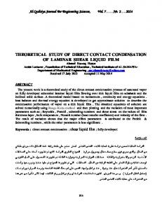 theoretical study of direct contact condensation of laminar shear liquid ...