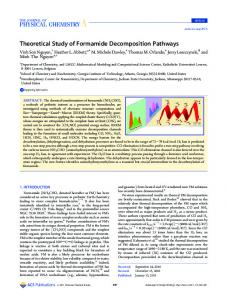 Theoretical Study of Formamide Decomposition ... - ACS Publications