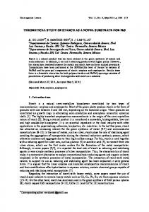 THEORETICAL STUDY OF STARCH AS A NOVEL SUBSTRATE FOR ...