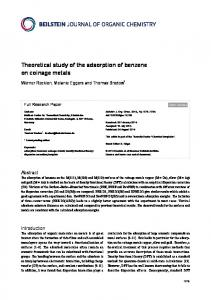 Theoretical study of the adsorption of benzene on ... - Beilstein-Institut