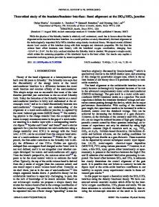 Theoretical study of the insulator/insulator interface: Band alignment at ...