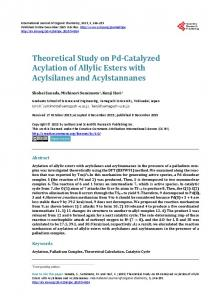 Theoretical Study on Pd-Catalyzed Acylation of Allylic Esters with