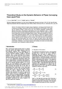 Theoretical Study on the Dynamic Behavior of Pipes Conveying Gas ...