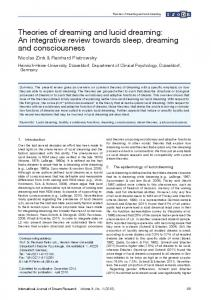 Theories of dreaming and lucid dreaming: An integrative review ...