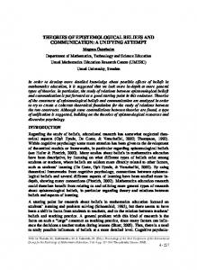 theories of epistemological beliefs and communication