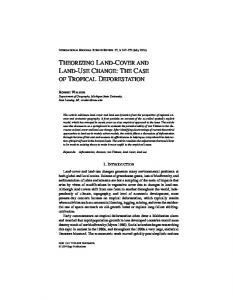 theorizing land-cover and land-use change: the ... - Semantic Scholar
