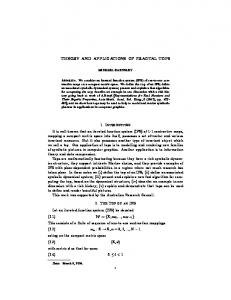 Theory and Applications of Fractal Tops - Mathematical Sciences ...