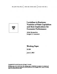 Theory and Evidence for the Varieties of State Capitalism