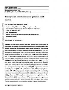 Theory and observations of galactic dark matter