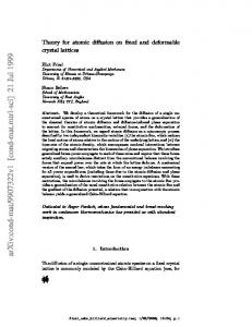 Theory for atomic diffusion on fixed and deformable crystal lattices