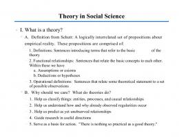 Theory in Social Science