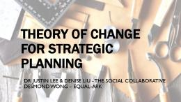 theory of change for strategic planning