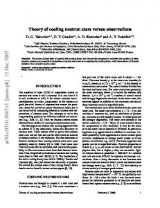 Theory of cooling neutron stars versus observations