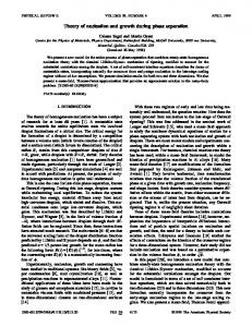 Theory of nucleation and growth during phase ... - McGill Physics