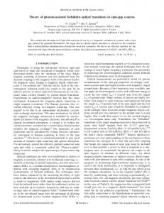 Theory of phonon-assisted forbidden optical transitions in spin ... - CNRS