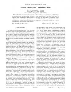 Theory of rubber friction: Nonstationary sliding - JuSER