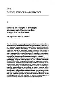 THEORY, SCHOOLS AND PRACTICE