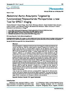 Theranostics Abdominal Aortic Aneurysms Targeted by Functionalized ...