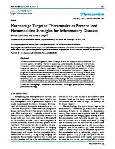 Theranostics Macrophage Targeted Theranostics as Personalized ...