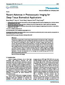 Theranostics Recent Advances in Photoacoustic Imaging for Deep