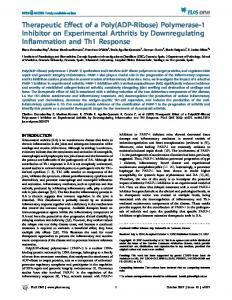 Therapeutic Effect of a Poly(ADP-Ribose) Polymerase-1 ... - PLOS