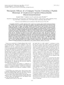 Therapeutic Efficacy of a Conjugate Vaccine Containing a Peptide ...