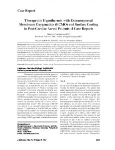 Therapeutic Hypothermia with Extracorporeal ...