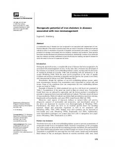 Therapeutic potential of iron chelators in ... - Wiley Online Library