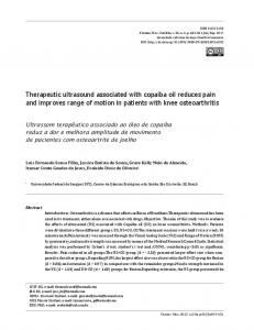 Therapeutic ultrasound associated with copaiba oil reduces pain and