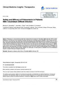 Therapeutics Safety and Efficacy of Fidaxomicin in Patients With ...