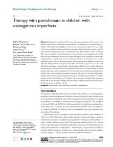 Therapy with pamidronate in children with