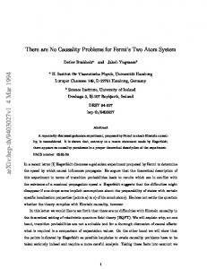 There are No Causality Problems for Fermi's Two Atom System