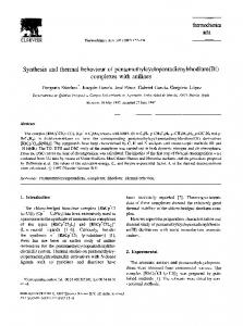therm0chimica acta Synthesis and thermal behaviour ... - Science Direct