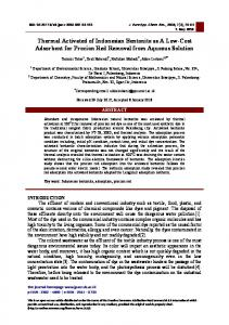 Thermal Activated of Indonesian Bentonite as A Low ...