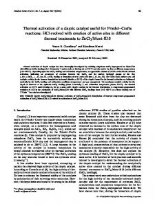 Thermal Activation of a Clayzic Catalyst Useful for ... - Springer Link